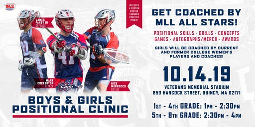Boston Cannons Positional Clinics-Attack, Goalies, Defense
