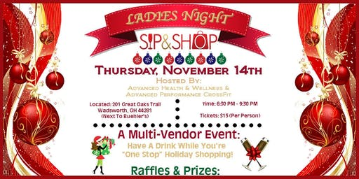 Ladies Night Sip & Shop!!