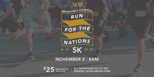 "Donations to General Scholarship Fund (""Run for the Nations"" 5K)"
