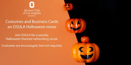 Costumes and Business Cards - An OSULA Halloween Mixer