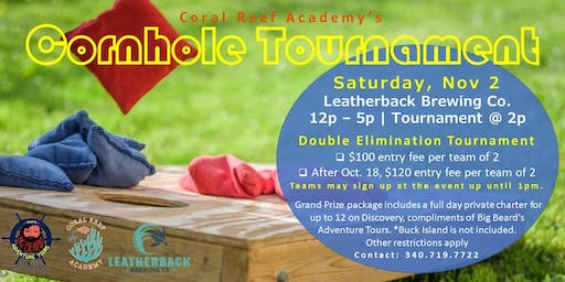 Coral Reef Academy's Double Elimination Cornhole Tournament