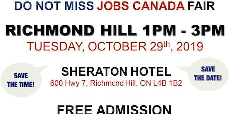 Richmond Hill Job Fair – October 30th, 2019 tickets