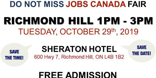 Richmond Hill Job Fair – October 30th, 2019