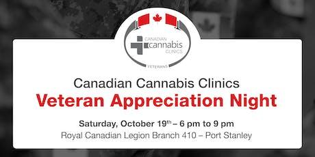Canadian Cannabis Clinics - Veteran Appreciation Night in Port Stanley tickets