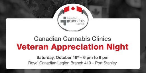 Canadian Cannabis Clinics - Veteran Appreciation Night in Port Stanley