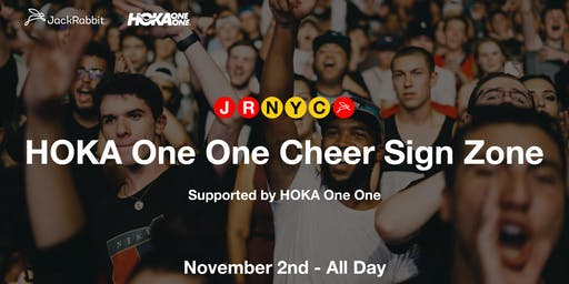 HOKA Cheer Sign Party
