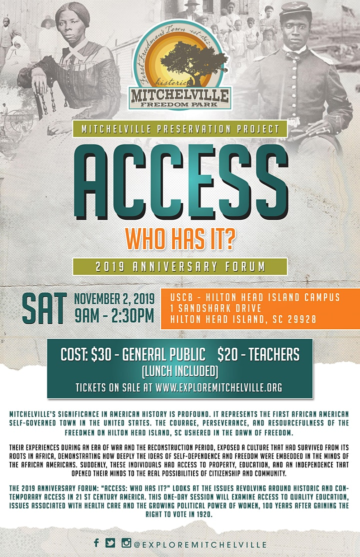 Access: Who Has it? Mitchelville's  2019 Anniversary Forum image