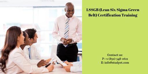 Lean Six Sigma Green Belt (LSSGB) Certification Training in Cap-de-la-Madeleine, PE