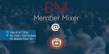 BNI Mixer at the Boston College Club tickets