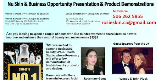 NuSkin&Business Opportunity Presentation & Product Demonstrations