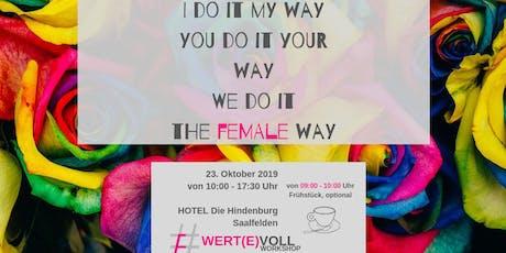 Wert(e)voll - The Female Way tickets