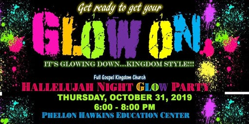 Hallelujah Night Glow Party hosted by Full Gospel's Kingdom Kids