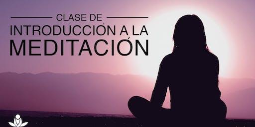 Clase de introducción a la meditación