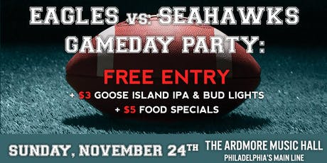 Eagles vs Seahawks Party: Free Entry, Beer/Food Specials, Open Bar & More! tickets