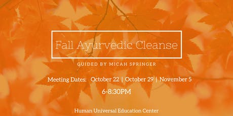 Fall Ayurvedic Cleanse tickets