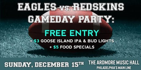 Eagles Game Day Party: Free Entry, Beer/Food Specials, Open Bar & More! tickets