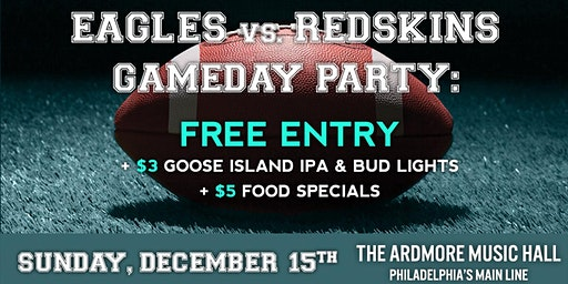 Eagles Game Day Party: Free Entry, Beer/Food Specials, Open Bar & More!