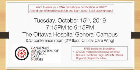 CCNC Information Session | CACCN Ottawa Regional Chapter tickets