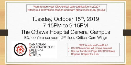 CCNC Information Session   CACCN Ottawa Regional Chapter