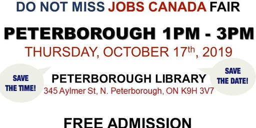 Peterborough Job Fair - October 17th, 2019