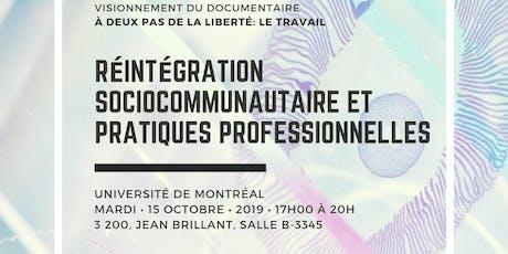 Soirée Discussion - Réintégration Sociocommunautaire tickets