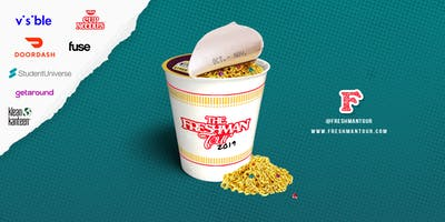The Freshman Tour Pop Up & Concert: Doordash, Cup Noodles, Visible, Fuse TV