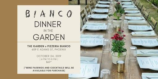 Bianco Dinner in the Garden