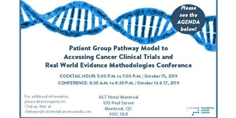 Patient Group Pathway Model to Accessing Cancer Clinical Trials & Real World Evidence Methodologies Conference tickets