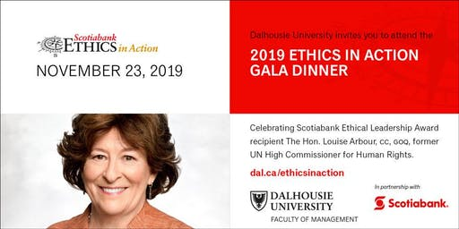 Scotiabank Ethics in Action Gala Dinner presented by Dalhousie