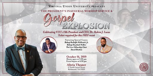 VUU Presents:  The President's Inaugural Worship Service & Gospel Explosion