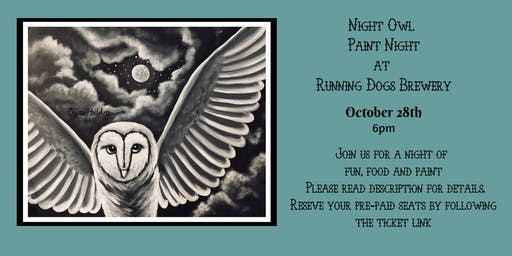 Night Owl Paint Night at Running Dogs Brewery