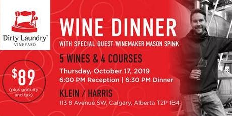 Dirty Laundry Winemaker Dinner with Mason Spink tickets