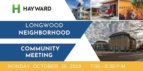 Longwood-Winton Grove Neighborhood Community Meeting tickets