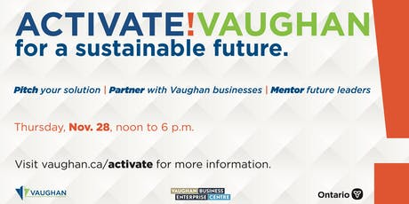 Activate!Vaughan Pitch Workshop - Oct 23 tickets
