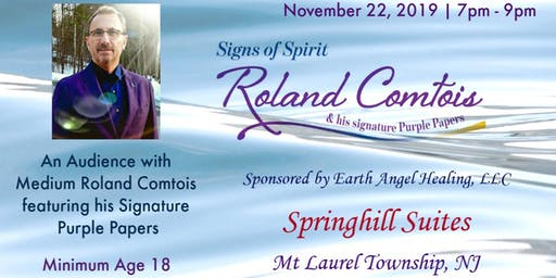 Signs of Spirit: An Audience with Medium Roland Comtois featuring his signature Purple Papers