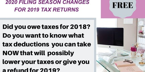 Cookies & Conversation 2020 Filing Season Changes for 2019 Tax Returns