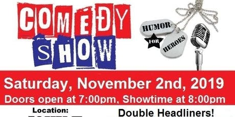 Humor for Heroes November 2nd Comedy Show tickets