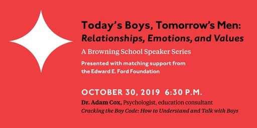 Browning School Speaker Series: An Evening with Dr. Adam Cox