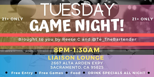Tuesday Game Night!