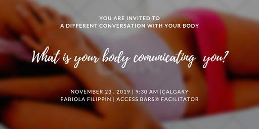 Access Bars Workshop Nov - A different conversation with your body