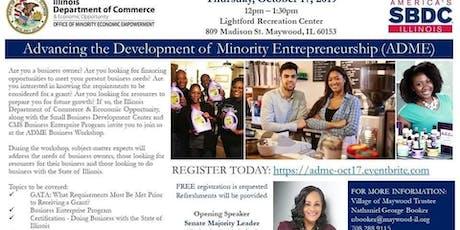 Advancing the Development of Minority Entrepreneurship tickets