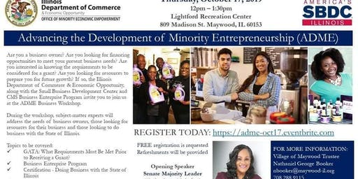 Advancing the Development of Minority Entrepreneurship