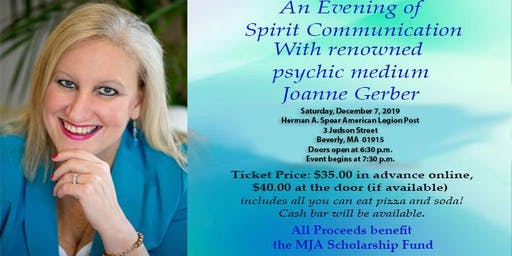 """""""An Evening of Spirit Communication"""" with renowned psychic Joanne Gerber"""