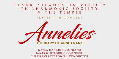 """Clark Atlanta University Philharmonic Society Performs """"Annelies: The Diary of Anne Frank"""" at The Temple"""
