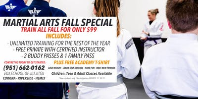 Martial Arts Fall Special in Hemet