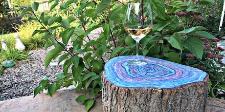 Faux Agate Tree Stump Side Table Workshop, for adults tickets
