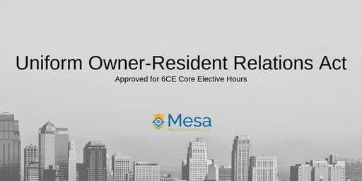 Uniform Owner-Resident Relations Act