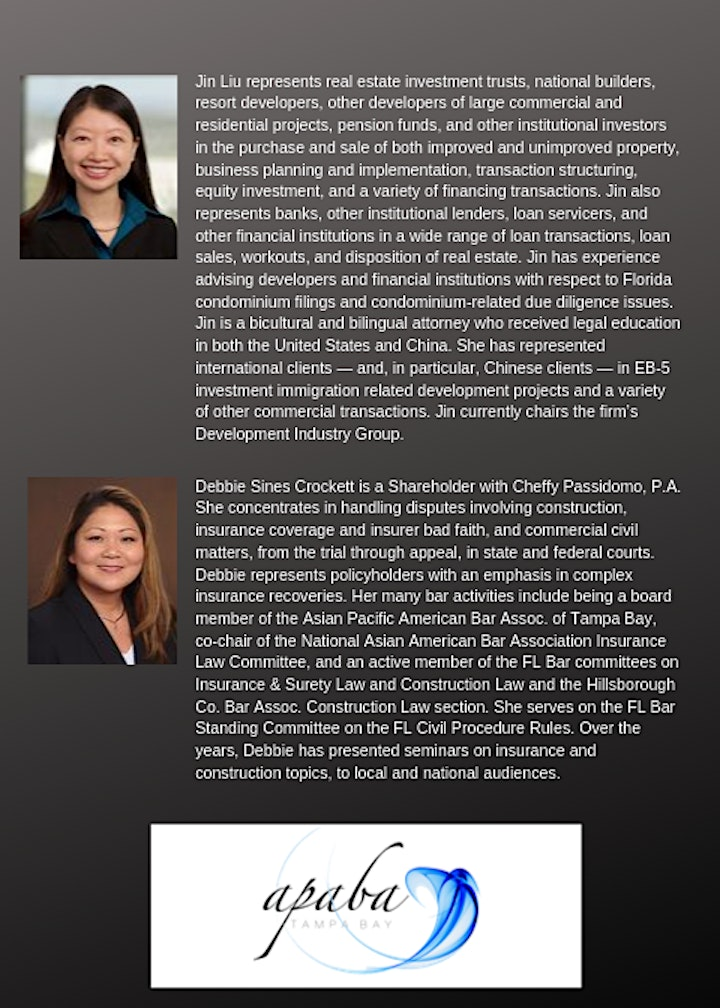 Asian American Legal Panel: Racial Discrimination & Investments image