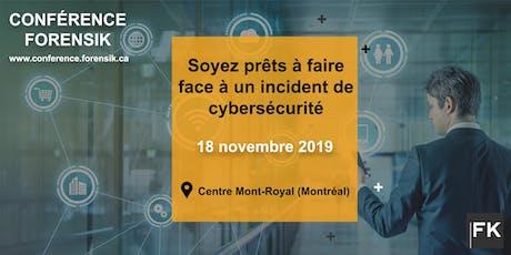 Conférence Forensik : Gestion et Réponses aux incidents de Cybersécurité tickets