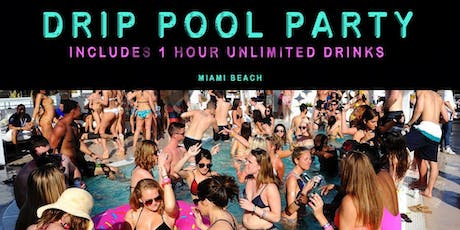 Free Pool Party + 1-Hour Open Bar in Miami Beach  tickets